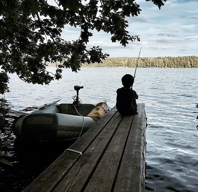 #countryside #brandenburg #fishing #lake #vacation #timeoff #hölzenersee